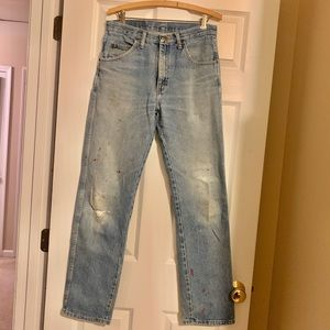 Wrangler Vintage high rise distressed jeans